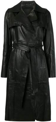 Federica Tosi leather trench coat