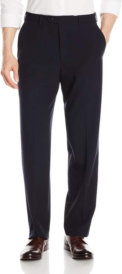 Haggar Men's Comfort Luxe Dress Pant Classic Fit Flat Front