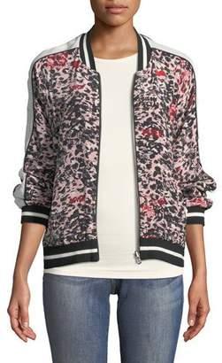 Zadig & Voltaire Billy Leo Zip-Front Ikat-Print Bomber Jacket
