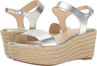 Nine West Women's Flownder Metallic Wedge Sandal