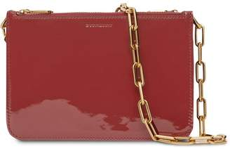 Burberry Triple Zip Patent Leather Crossbody Bag