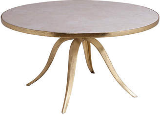 Artistica Crystal Stone Round Coffee Table - White/Gold