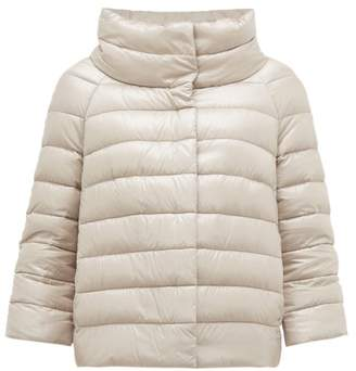Herno Sofia Quilted Down Jacket - Womens - Silver