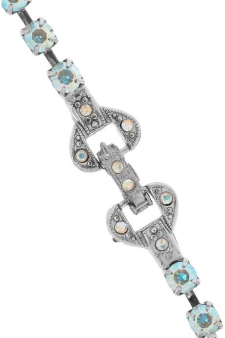 Tom Binns Faux Mêlée rhodium and silver-plated Swarovski crystal necklace