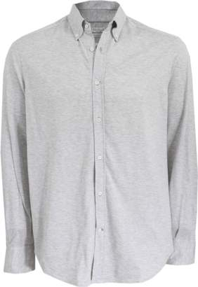 Brunello Cucinelli Cotton Knit Button Down Shirt