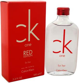 Calvin Klein One Red Edition Women's 3.4Oz Eau De Toilette Spray