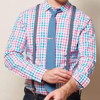 Blade + Blue Faux Denim Skinny Elastic Suspenders