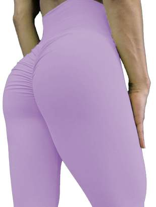 CROSS1946 Women's High Waist Back Ruched Legging Butt Lift Yoga Pants XL