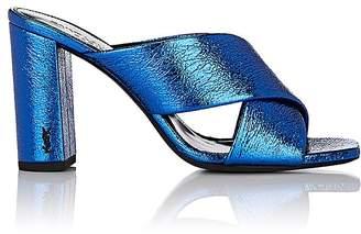 Women's Loulou Metallic Leather Slide Sandals