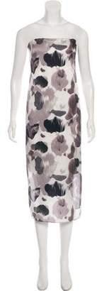 Helmut Lang Silk Strapless Dress