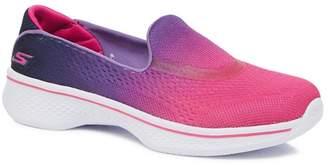 Skechers Kids Girls' Pink 'Go Walk 4' Slip On Trainers
