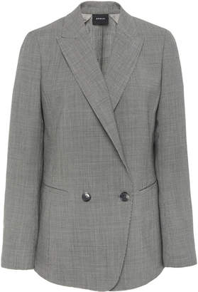 Akris Double Face Stretch Wool Houndstooth Blazer