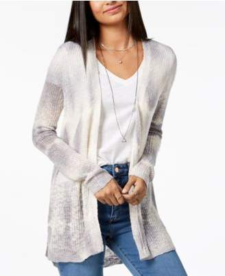 Freshman Juniors' Tie-Dyed High-Low Cardigan