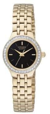 Analog Citizen Quartz Collection Crystal-Accent Goldtone Bracelet Watch
