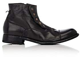 Harris Men's Cap-Toe Spat Boots-Black