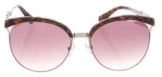 Balmain Round Mirrored Sunglasses