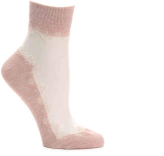Lemon Sheer Lace Ankle Socks - Women's