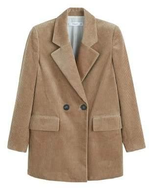 MANGO Oversize corduroy blazer
