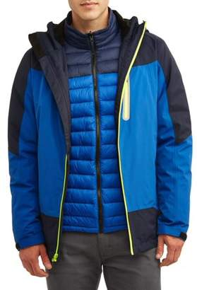 Iceberg Swiss Men's 3 in 1 Systems Jacket with Ultra Light Removable Liner, up to size 3XL