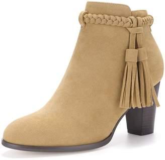 50bfd23f9e27 Allegra K Women s Braided Tassel Strap Block Heel Booties (Size US ...