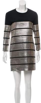 Tom Ford Leather-Trimmed Mini Dress