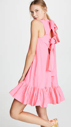MSGM Drop Waist Bow Back Dress