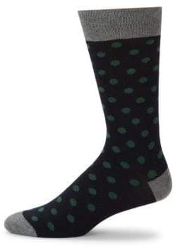Large Dot Mid-Calf Socks