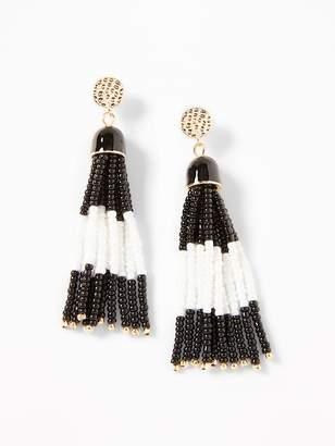 Old Navy Beaded-Tassel Drop Earrings for Women