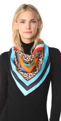 Diane von Furstenberg Belmont Stripe Square Scarf $178 thestylecure.com