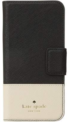 Kate Spade Leather Wrap Folio Phone Case for iPhone