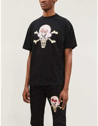 Palm Angels x ICECREAM graphic-print cotton-jersey T-shirt