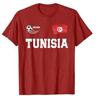 Tunisia T-Shirt - Tunisian Soccer Fan Jersey Style Tee Shirt