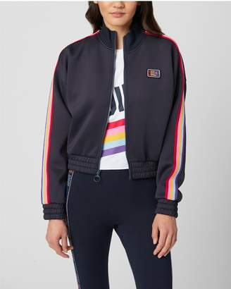 Juicy Couture RAINBOW SIDE STRIPED TRICOT TRACK JACKET