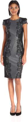 Betsey Johnson Women's Jacquard Knit Dress, Black/Grey