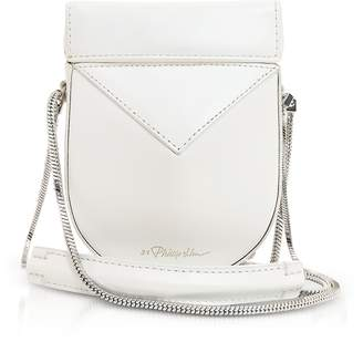 3.1 Phillip Lim White Leather Soleil Mini Case