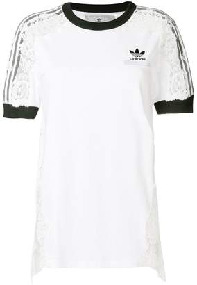 adidas by Stella McCartney lace detail T-shirt