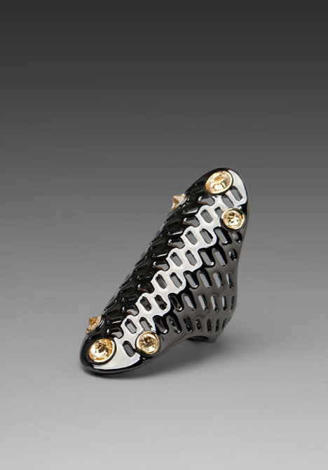 House of Harlow Geometric Jet Pave Ring