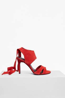 French Connection Fearne Suede Ankle Wrap Heels