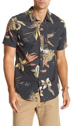 Billabong Short Sleeve Floral Print Tailored Fit Woven Shirt