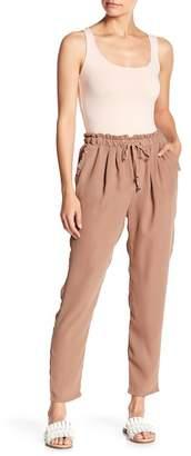 LoveRiche Ruffle Trim Straight Leg Pants