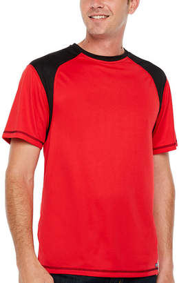 Smith Workwear Sleeveless Crew Neck Tee With Contrast Textured Shoulder