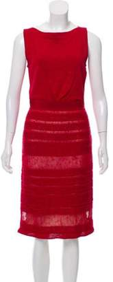 Giambattista Valli Knit Knee-Length Dress Red Knit Knee-Length Dress
