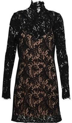 Acne Studios Belda Leaf Cotton-blend Corded Lace Mini Dress