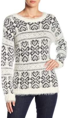 Nostalgia Printed Fuzzy Sweater