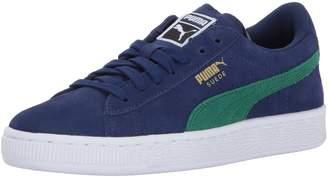 Puma Boy's Suede Jr Sneakers, Blue Depths/Verdant Green