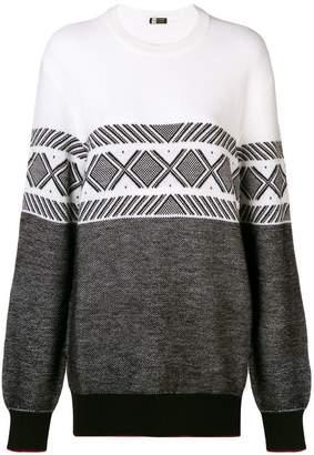 Ermenegildo Zegna contrast geometric pattern sweater