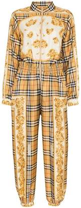 Burberry silk check jumpsuit