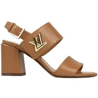 Louis Vuitton Beige Leather Sandals