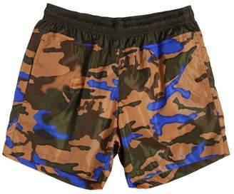 Moncler Camo Print Nylon Swim Shorts