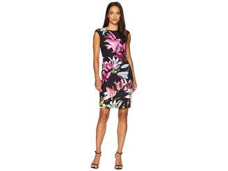 Tahari ASL Petite Printed Scuba Sheath Dress
